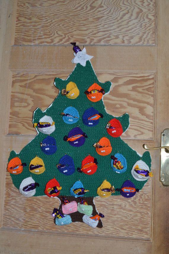 Christmas Tree Advent Calendar by BiziBodyCrafts on Etsy, £30.00