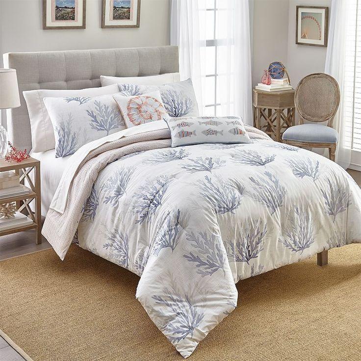 Coco Beach Comforter Set, Blue