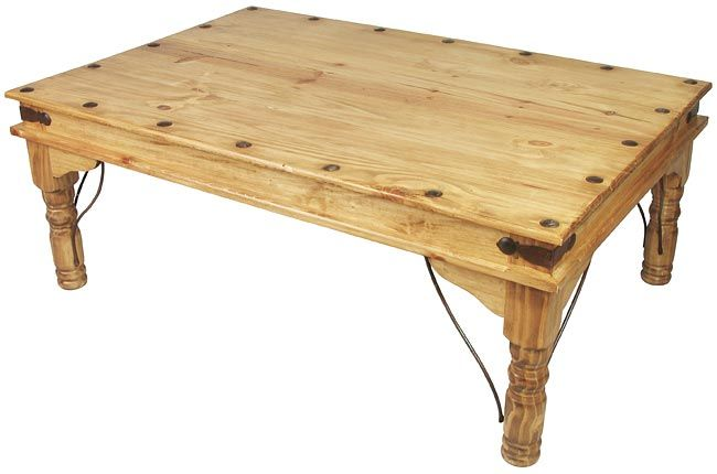 Indian Coffee Table Mexican Pine This Mexican Pine Coffee Table With Hand Forged Iron Accents