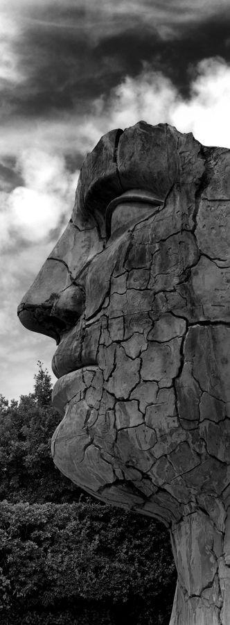 Tindaro Screpolato - bronze statue by sculptor Igor Mitoraj, Boboli Garden , Florence, Italy.