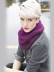 Enkle og livaktige korte rette hår parykker for kvinner