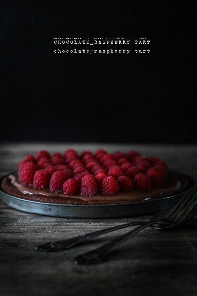 Chocolate raspberry tart| louiogbearnaisen.dk