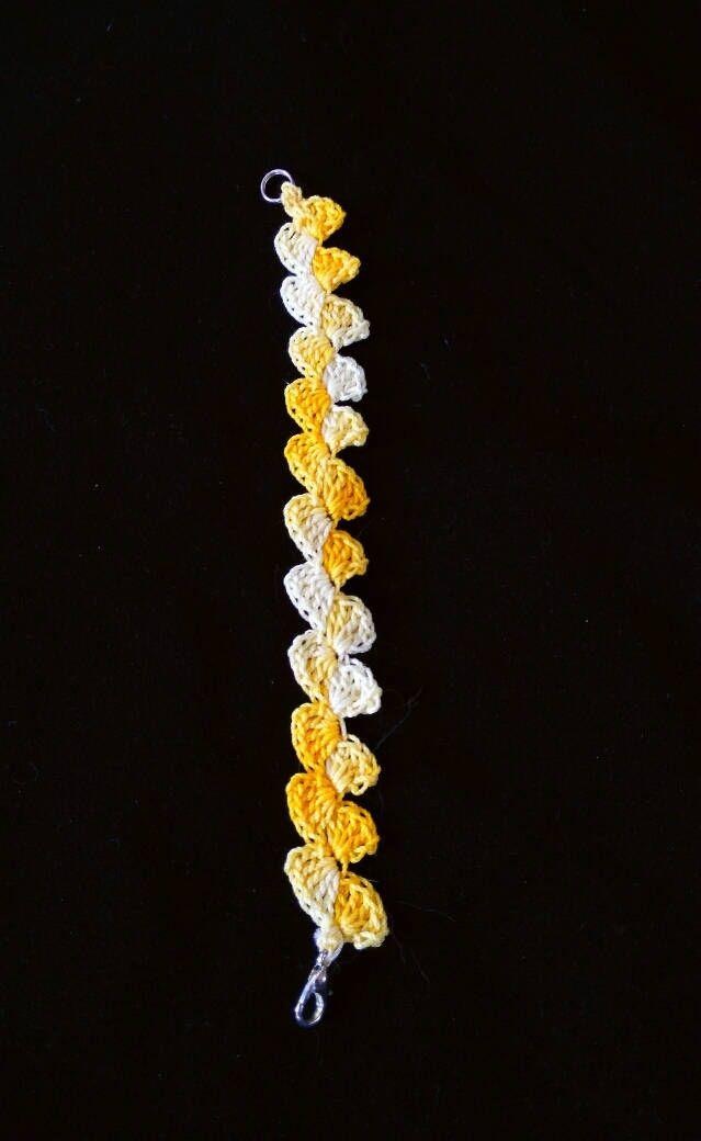 Braccialetto sfumato yellow sun di Lisamilleidee su Etsy