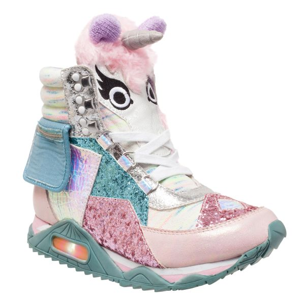 Irregular Choice | Xhr-list | Wedges | Candy Damsel unicorn wedge sneakers