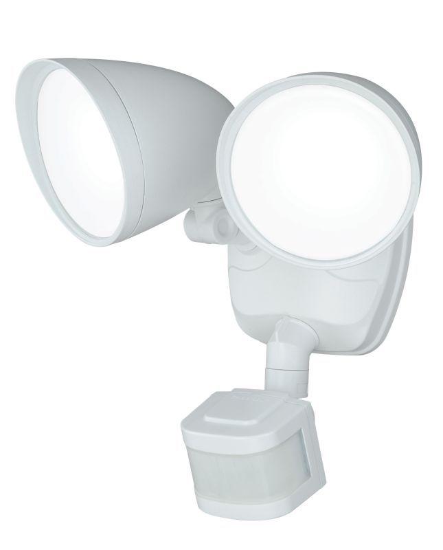 Vaxcel Lighting T0170 Tau 2 Light LED Motion Sensor Photocell Outdoor Flood Ligh White Commercial Lighting Site Lighting Flood Lights
