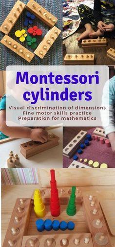 Montessori-Noppen- und Noppenloszylinder Perfektes Material für feinmotorische …