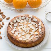 Mandľovo-pomarančový koláč