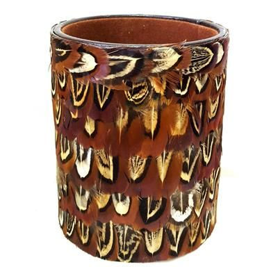 Stylish Pheasant Feather Pen Holder - a perfect gift for a country gent!
