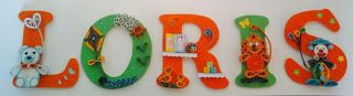 In-Quilling:  LETTERE LEGNO 10 CM DECORATE