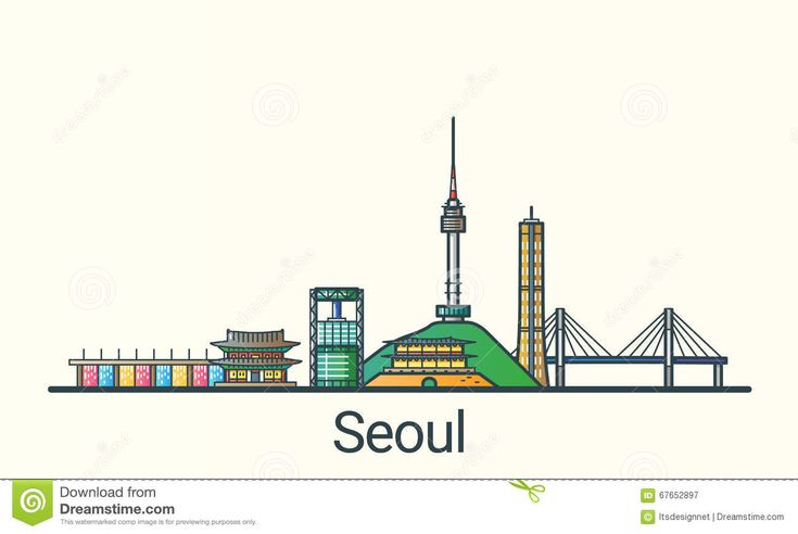 Flat Line Seoul Banner - Download From Over 45 Million High Quality Stock Photos, Images, Vectors. Sign up for FREE today. Image: 67652897