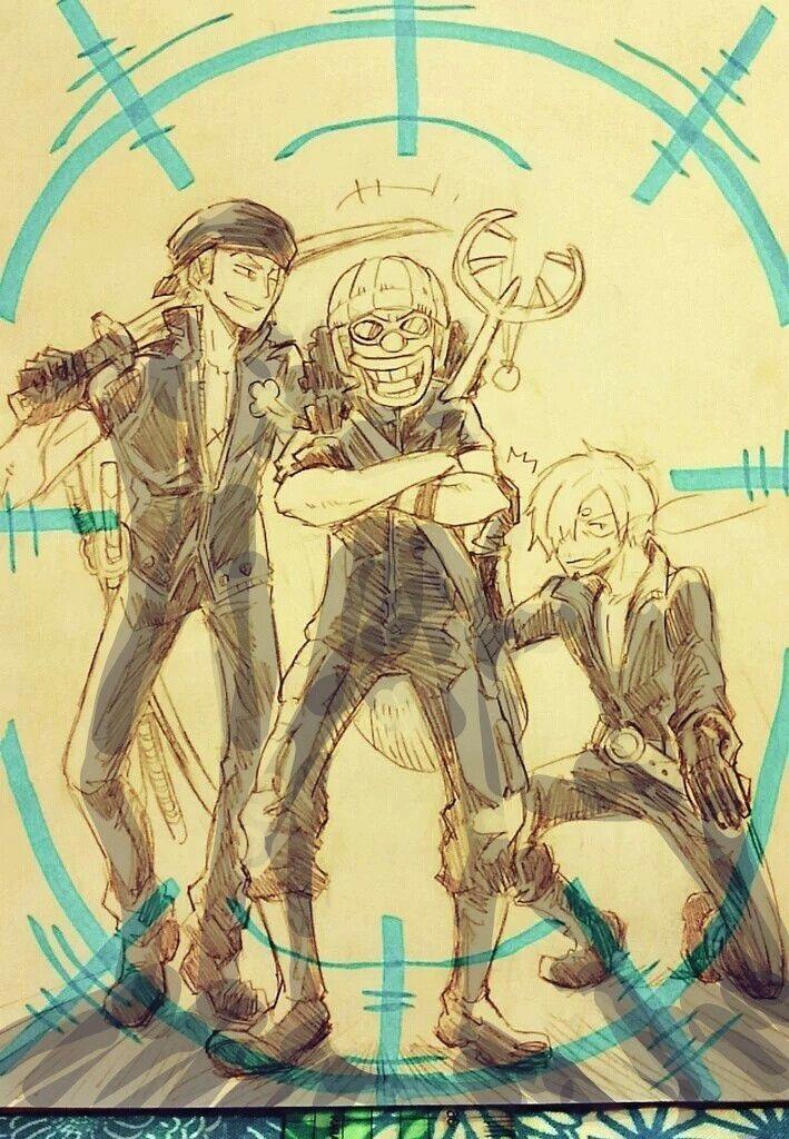 Ророноа Зоро, Усопп, Винсмок Санджи. One Piece: GOLD.