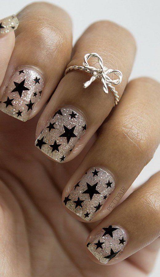 17 Stunning Star Nail Designs for Fashionistas: #9. Efflortless Chic Star  Nail Design - The 25+ Best Star Nail Designs Ideas On Pinterest Nail Blog