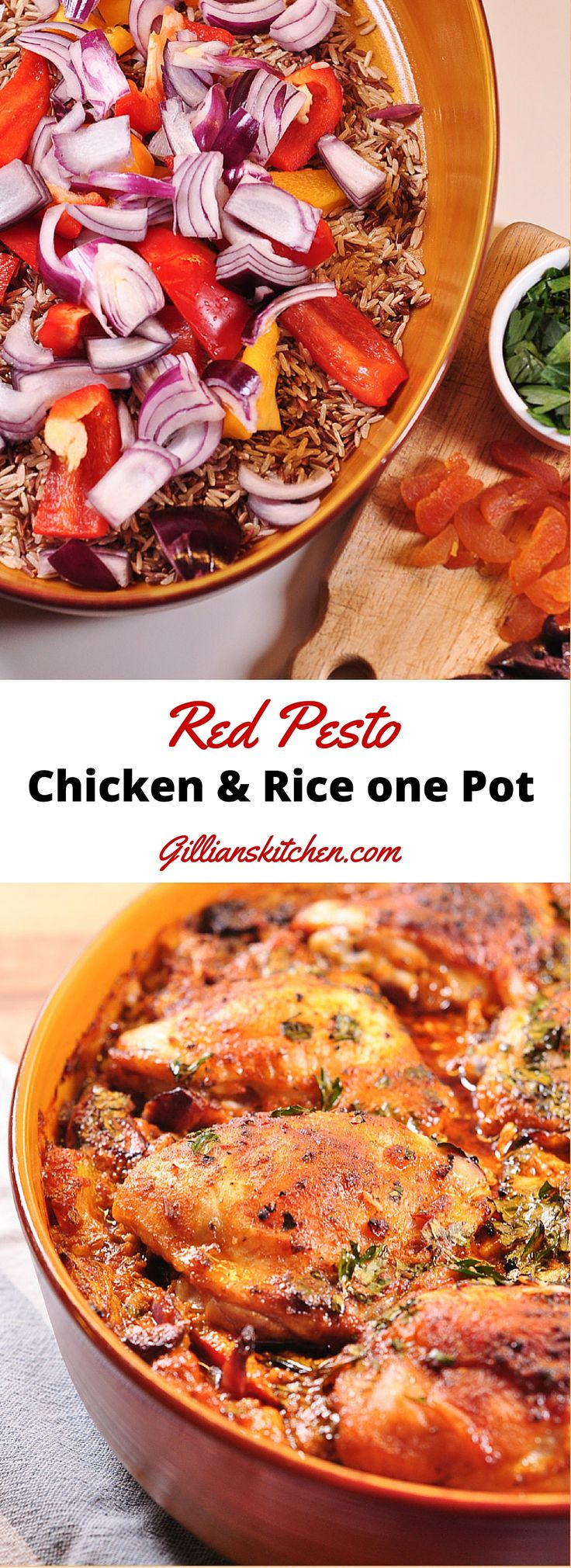 Red+Pesto+Chicken+and+Rice+One+Pot