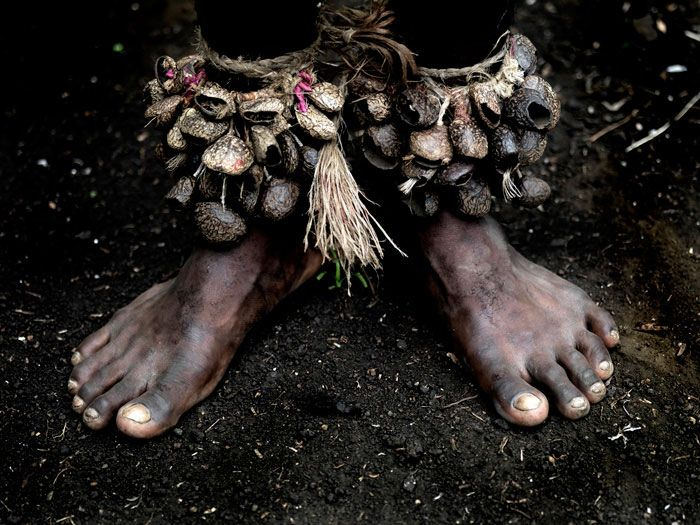Shell instrument for the feet, Vanuatu.