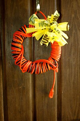 Samma's Spot: A Home Depot & VELCRO House Party electrical cord wreath