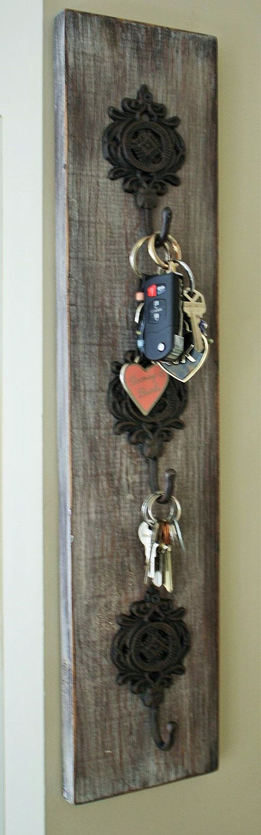Key, Jewelry, Purse, Coats, Towel Hook Organizer - Hand made reclaimed barn wood