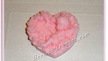 Angioletto di sapone puro alla glicerina rosa