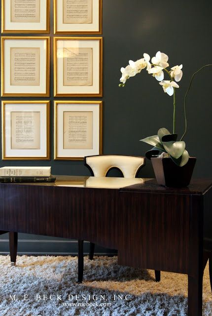 Live Beautifully. Elegant, masculine office space | Home ...