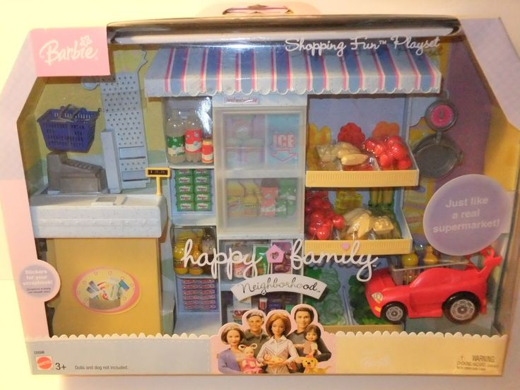 Barbie Happy Family Neighborhood Shopping Fun Playset, 2004