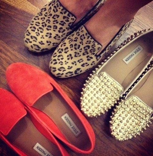 steve madden loafers for fall, LOVE!: Studs, Madden Loafers, Feet, Steve Madden Shoes, Leopards, Things, Madden Flats, Wear, Stevemadden