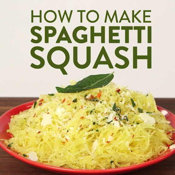 Spaghetti squash is quickly becoming one of the hottest healthy alternatives to pasta, but we bet you don't know how easy it is to make! While there's always the traditional method of roasting the halves, the squash can be microwaved in just 15 minutes. No, seriously. Once it's steamed to perfection, dress it any way you want — with olive oil and parmesan or your favorite pasta sauces.
