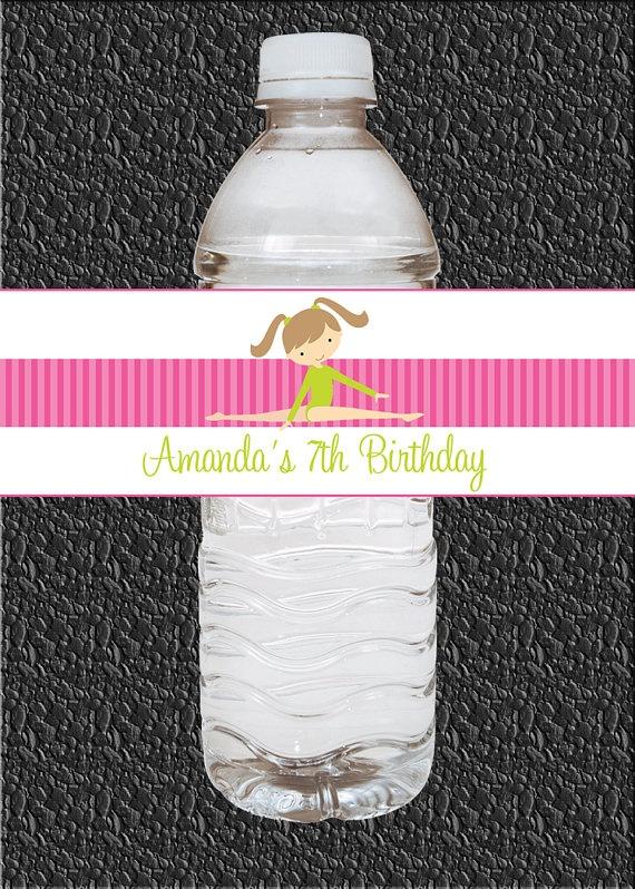 make water bottle labels using design I used for invites & put a bottle in favor bag
