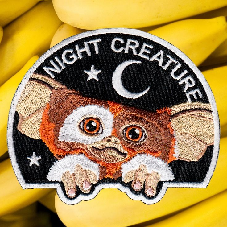 "Gremlins iron-on patch <br></br><font color=""#BDBDBD"">parche Gizmo</font> / la barbuda"