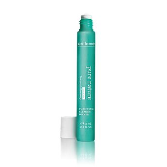 Oriflame Pure Nature Tea Tree & Rosemary Blemish Solver (21347) - Helps dry out blemishes anytime, anywhere. Dot this handy stick with tea tree and rosemary essential oils on targeted areas to soothe and clear the skin. Use under make-up or wear alone. 14 ml.