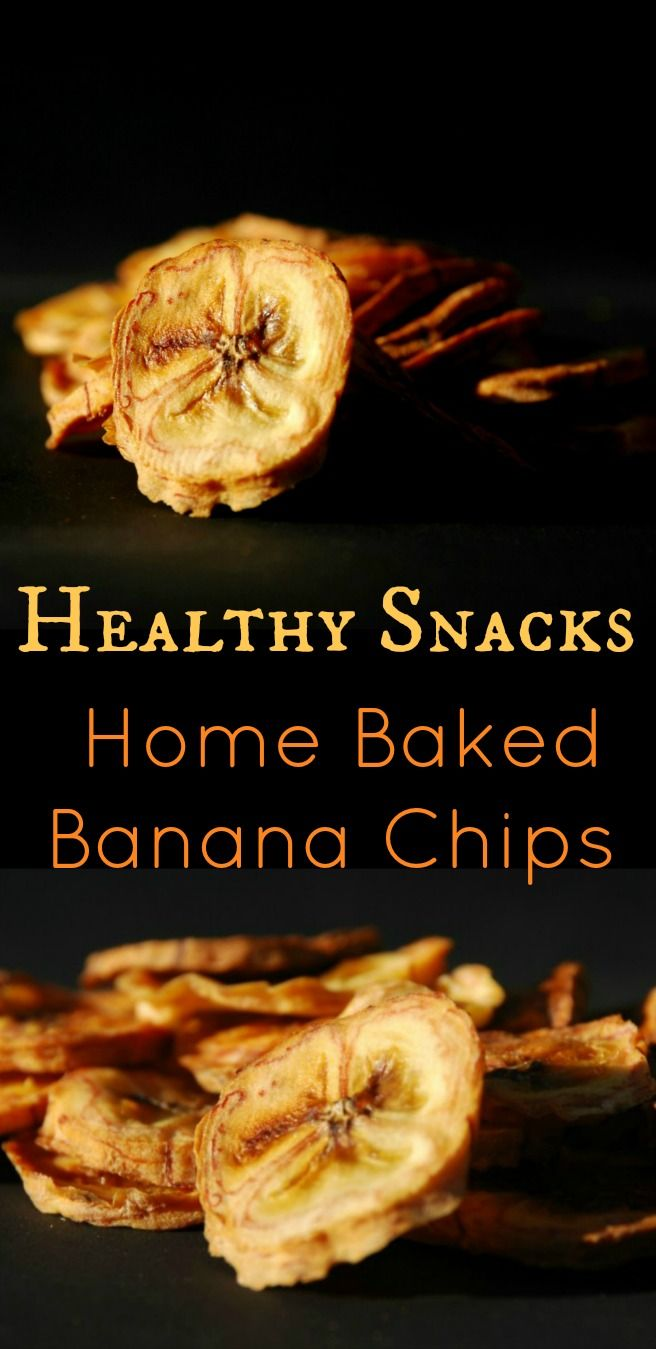 Healthy Snacks – Home Baked Banana Chips