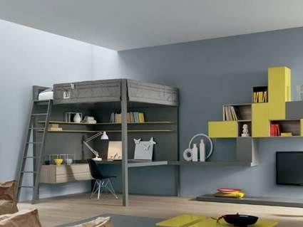 Camas y escritorio para ahorrar espacio