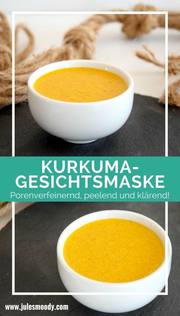 Porenverfeinernde Kurkuma-Gesichtsmaske. Klärt, reinigt und verfeinert die Poren!