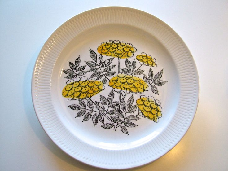 RöRSTRAND Sweden CAPRI plate Vintage Mid century Scandinavian design. $15.00, via Etsy.