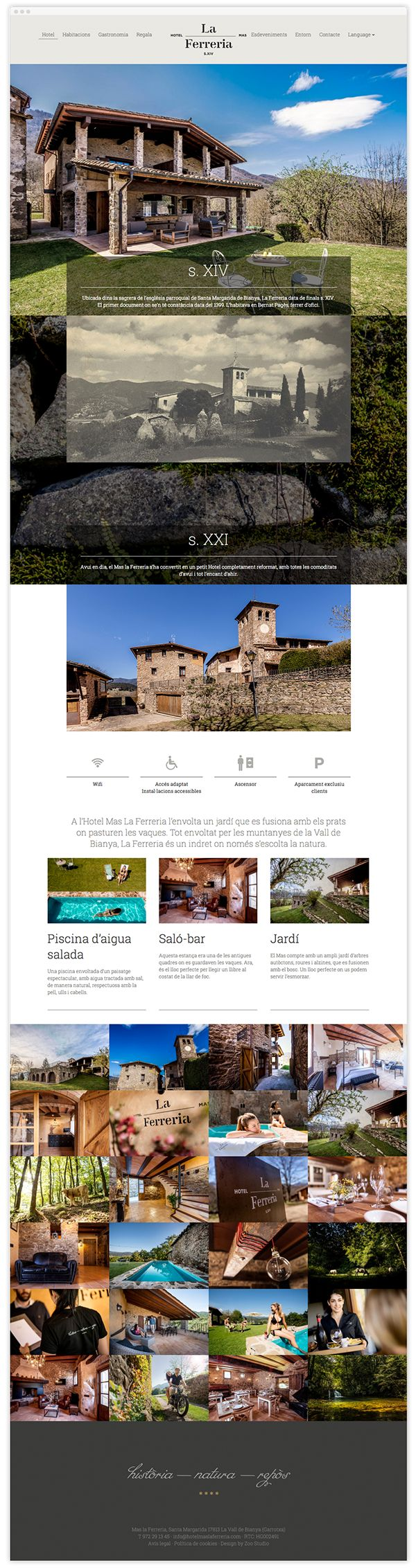 Hotel Mas La Ferreria Web on Web Design Served