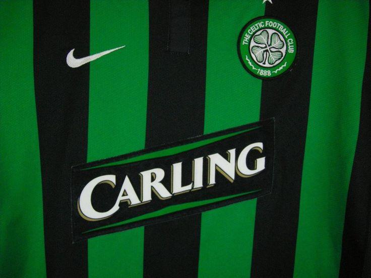 Celtic Football Club #8 2006 Carling Nike NWOT Soccer Jersey Men's L Sphere Dry  #Nike #Jerseys