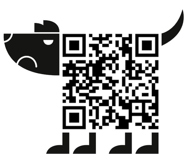 Barking up the wrong tree QR code design