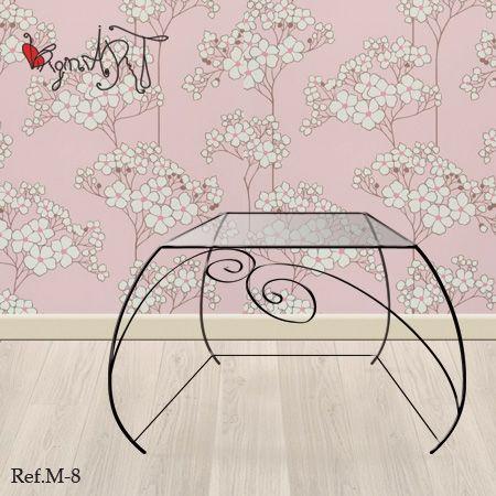 52 best muebles de forja images on pinterest arabesque build your own and crafts - Mesillas de forja ...