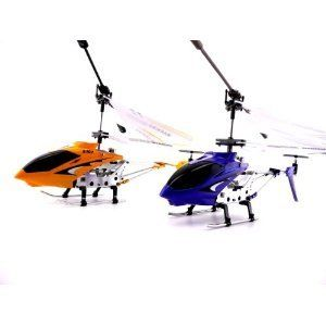 S107G 3 Channel Mini Indoor Co-Axial Metal RC Helicopter w/ Built in Gyroscope (Red & Blue) Set of 2 by Syma. $53.89. No Assembly required, Ready To Fly!Flight Stabilizing System with adjustable trimming control.Equipped with the latest Gyroscope technology.Full 3 Channels : Up, Down, Left, Right, Forward and Backward. 2 Remote Controllers (required 6 AA batteries , not included). 2 Brand New Genuine 2012 Rare Special Edition and Red Color Syma S107G 3CH Gyro RC Helicop...