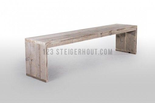 Steigerhout bankje Bir 1