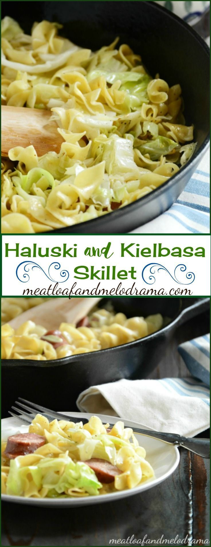 Haluski and Kielbasa - Fried Noodles and Cabbage with Polish Sausage is Eastern European comfort food at it's best!