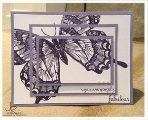 Schwalbenschwanz in Schichten #stampinup #Schmetterling #Swallowtail #Karte #3D #basteln #stempeln