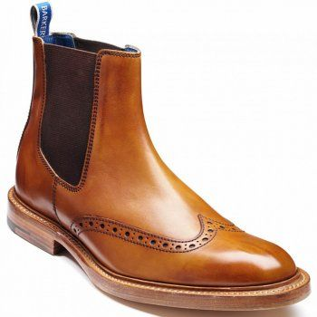 These classic men's leather Chelsea boots from British heritage brand Barker are the perfect way to punctuate your city wardrobe. Expertly crafted from carefully selected leather, the label uses traditional shoe making methods such as slow natural dying and polishing to give each pair of boots a unique quality for years to come.