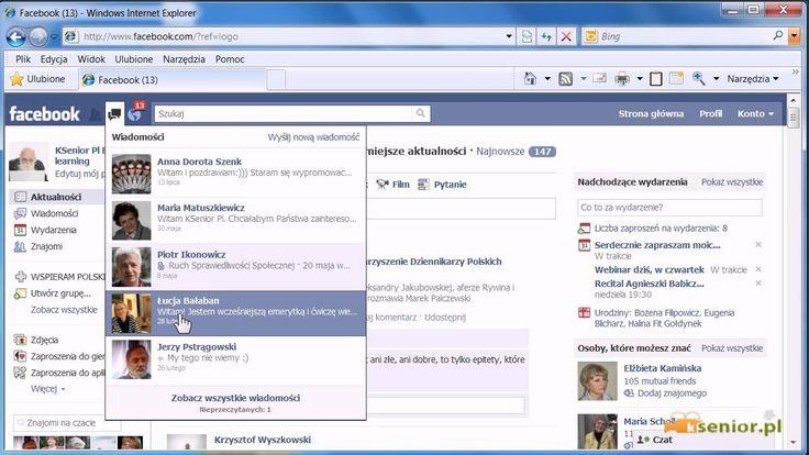 Facebook - Omówienie menu facebooka.
