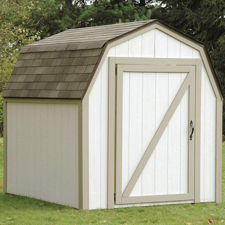 Barn Roof 7 ft. W x 8 ft. D Metal Storage Shed Kit