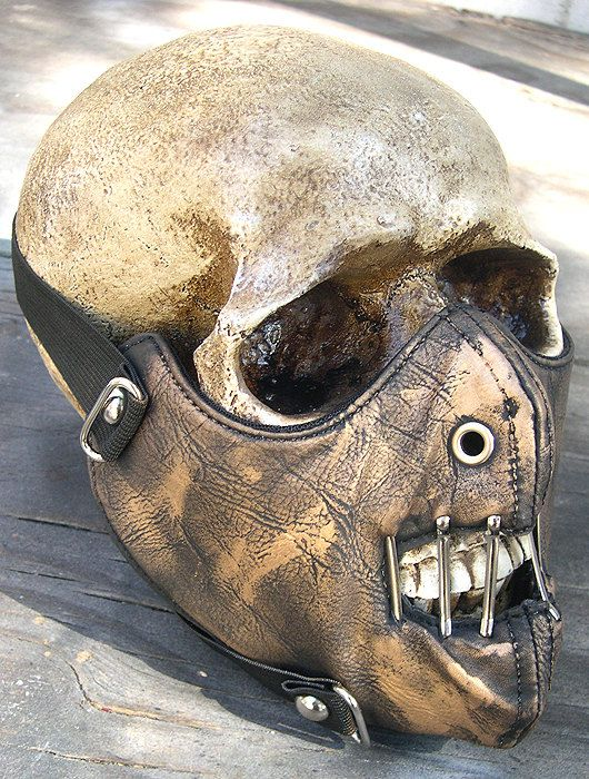 Gold Brass Look Distressed-Look HANNIBAL LECTER Steampunk Dust Riding MASK - A Burning Man Must Have. $32.50, via Etsy.