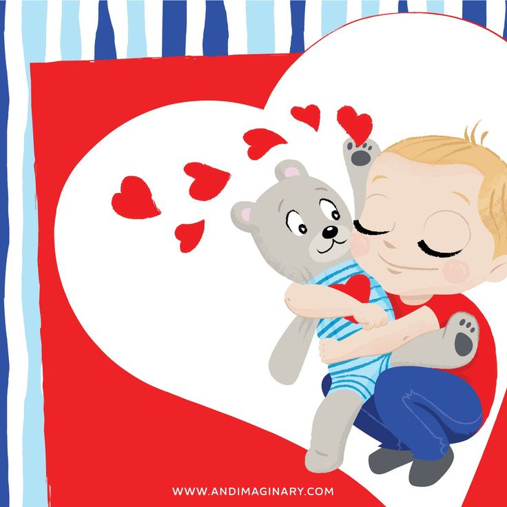 Chris & Brumi really knows how to express their love. In a big, long hug - Andimaginary Prints #greetingcard #ValentinesDay #AndimaginaryPrints #printable #free #illustration