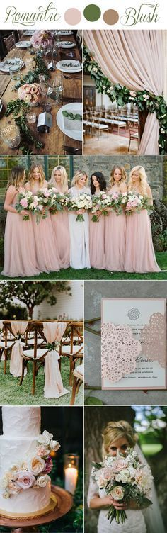romantic blush pink rustic garden wedding color inpiration