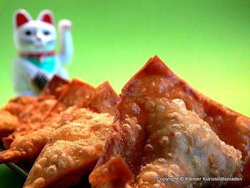 Kleiner Kuriositätenladen: Frittierte Wan Tan mit Hühnchenfüllung