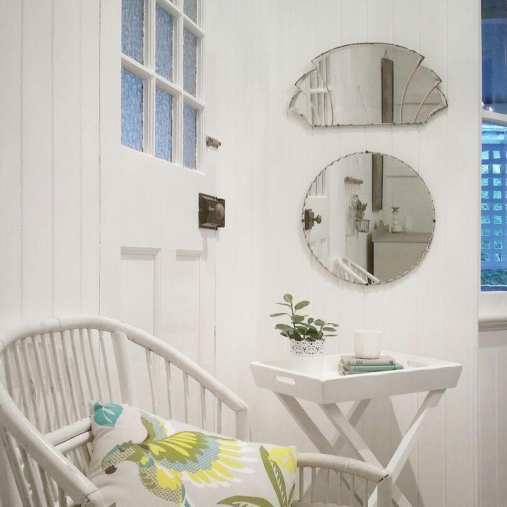Diy Kitchen Cabinets Brisbane: Queenslander Style. Vintage Mirrors, Cane Chair With
