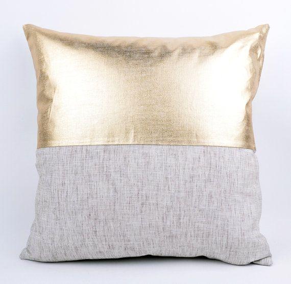 Sukan / 1 Gold Solid  Linen Pillow Cover  decorative by sukanart, $39.00