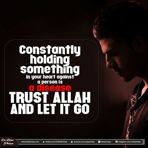 Have you been holding in hard feelings about someone? It's time to let that go and heal your heart by trusting Allah.